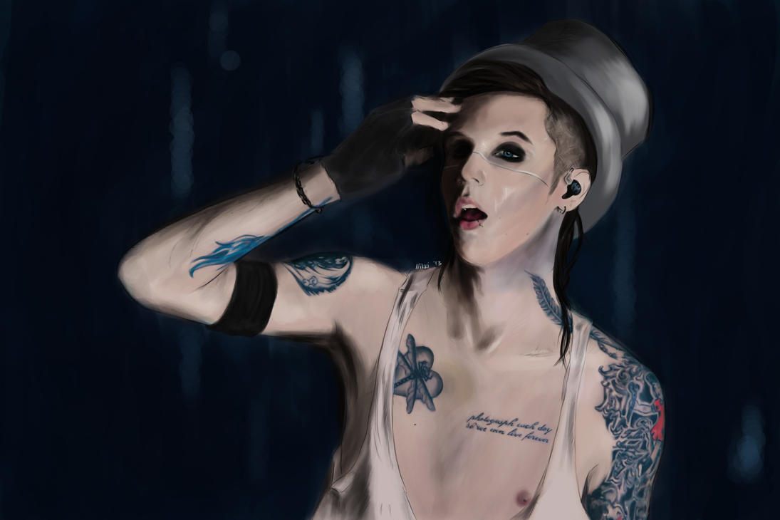 Top Hat by FacelessMachine Andy Biersack Chest Tattoos