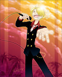Singing Sanji by SybLaTortue
