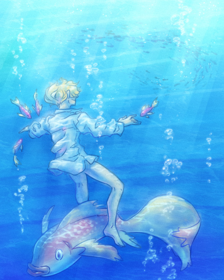 swimming with the fishes by syblatortue on deviantart