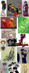 Homestuck Dump 6 by SybLaTortue