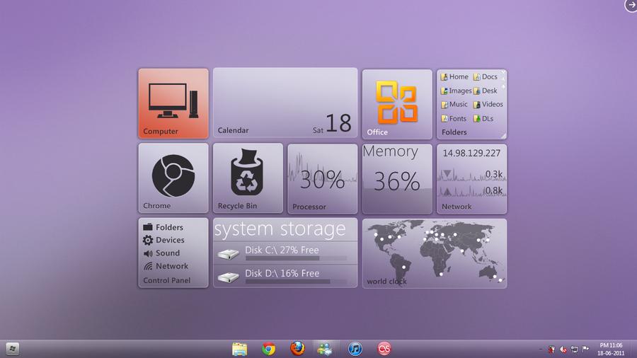 june desktop by unrealrik
