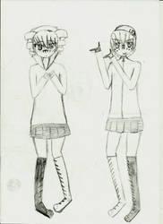 Kasane Teto and Uta Utane Matryoshka by 4ro-chan