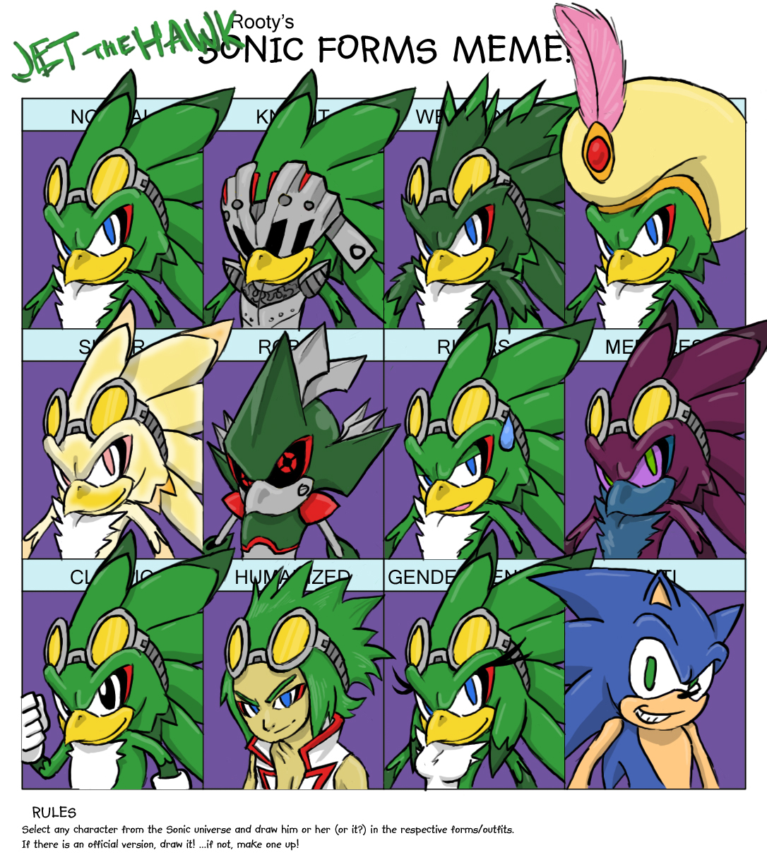 Sonic Forms: Sonic Forms Meme -Jet- By ProfessorZolo On DeviantArt