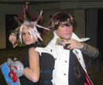 Cosplay: Yami Yugi and Kaiba