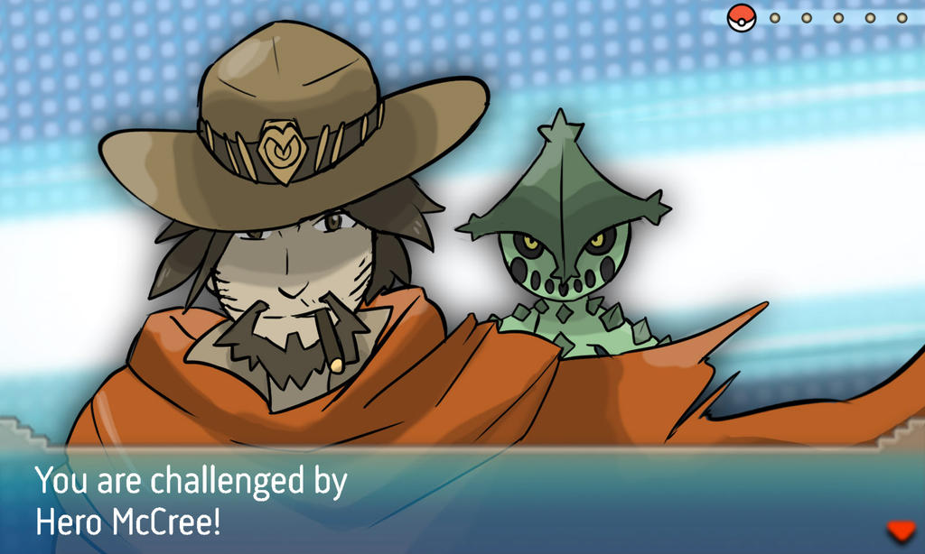 Attrapez-les TOUS. Overwatch_heroes_and_their_pokemon___mccree_by_elstrawfedora-da6a429