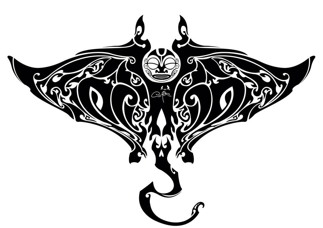 Manta Ray Tattoo Design