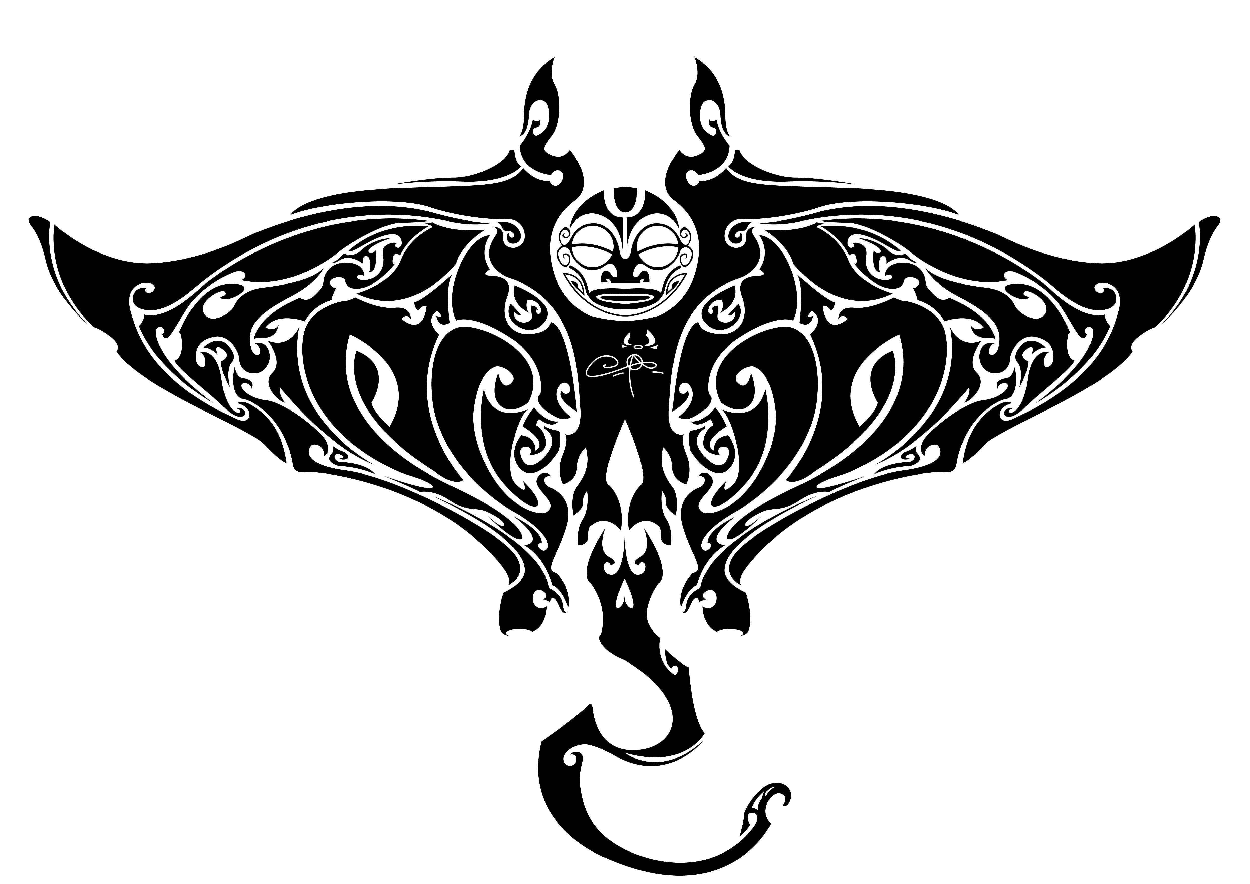 Maori Manta Ray Tribal Tattoo Meaning