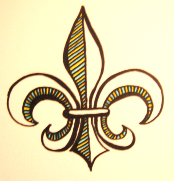 Fleur-de-Lis Tattoo Design by