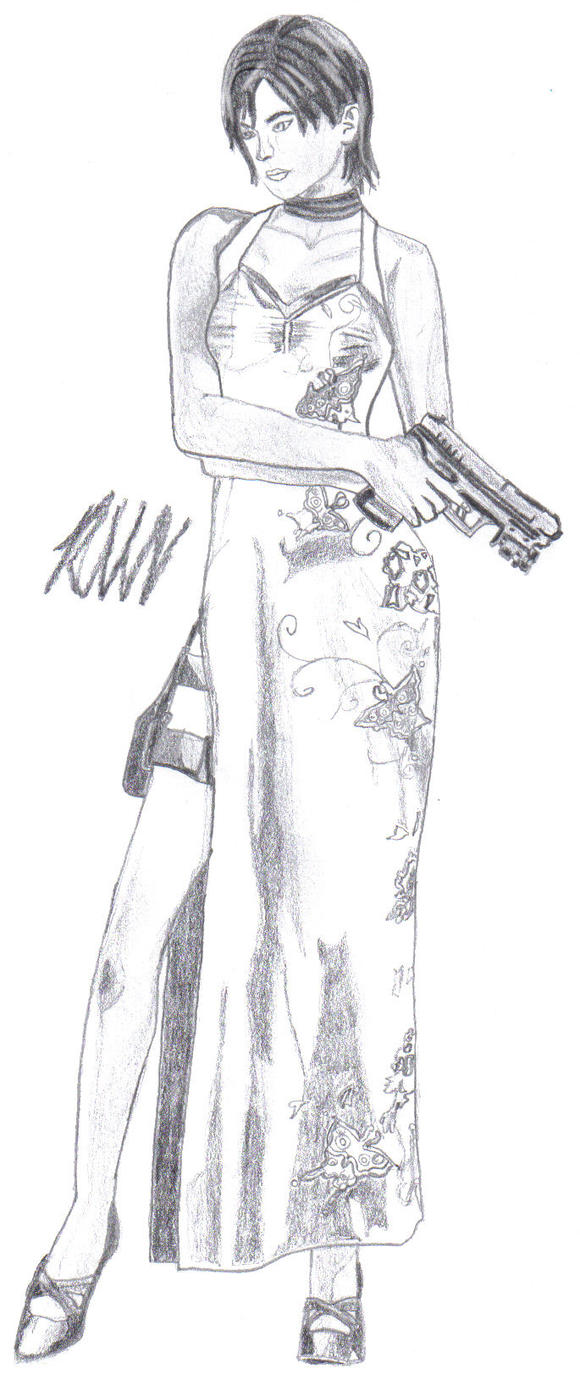 ada wong coloring pages - photo#13