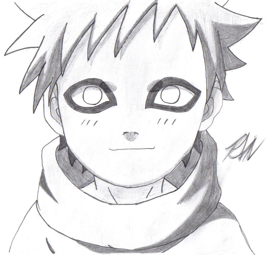 Naruto Drawings: Little Gaara By Deathraven479 On DeviantArt