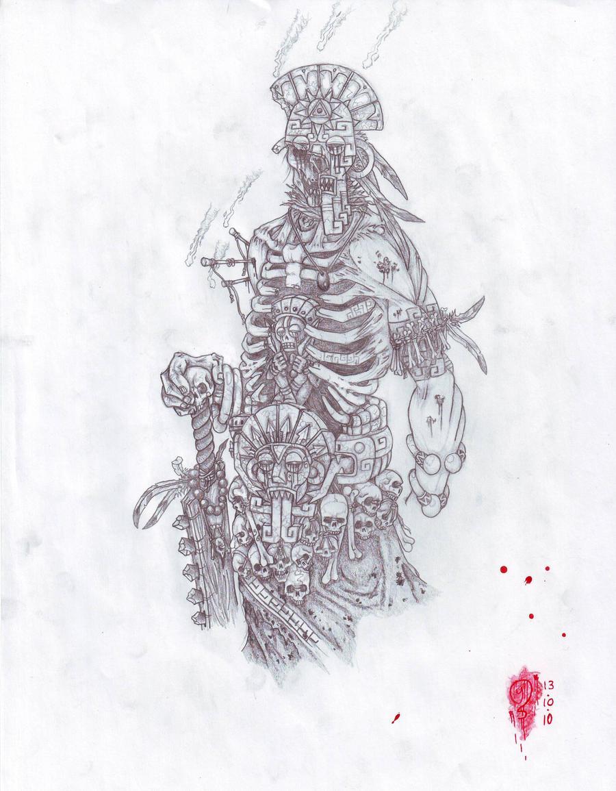 Aztec God by YannTheMa...