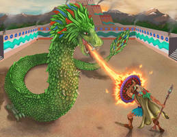 Quetzalcoatl by nahual4004
