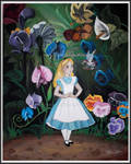 Alice with the Flowers