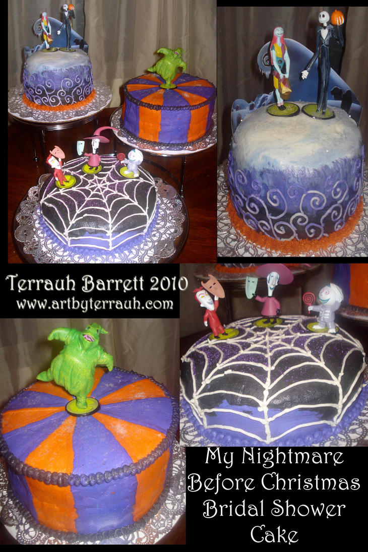 Nightmare Before Xmas Cake by Terrauh