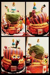 Alice in Wonderland Cake by Terrauh
