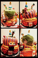 Alice in Wonderland Cake by Terrauh