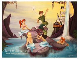 Peter Pan and the Mermaids by Terrauh