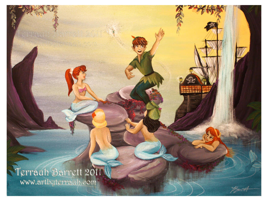 peter pan and the mermaids by terrauh - Peter Pan Mermaids Coloring Pages