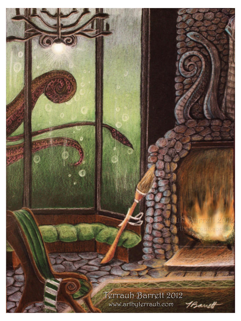 Slytherin Common Room by Terrauh