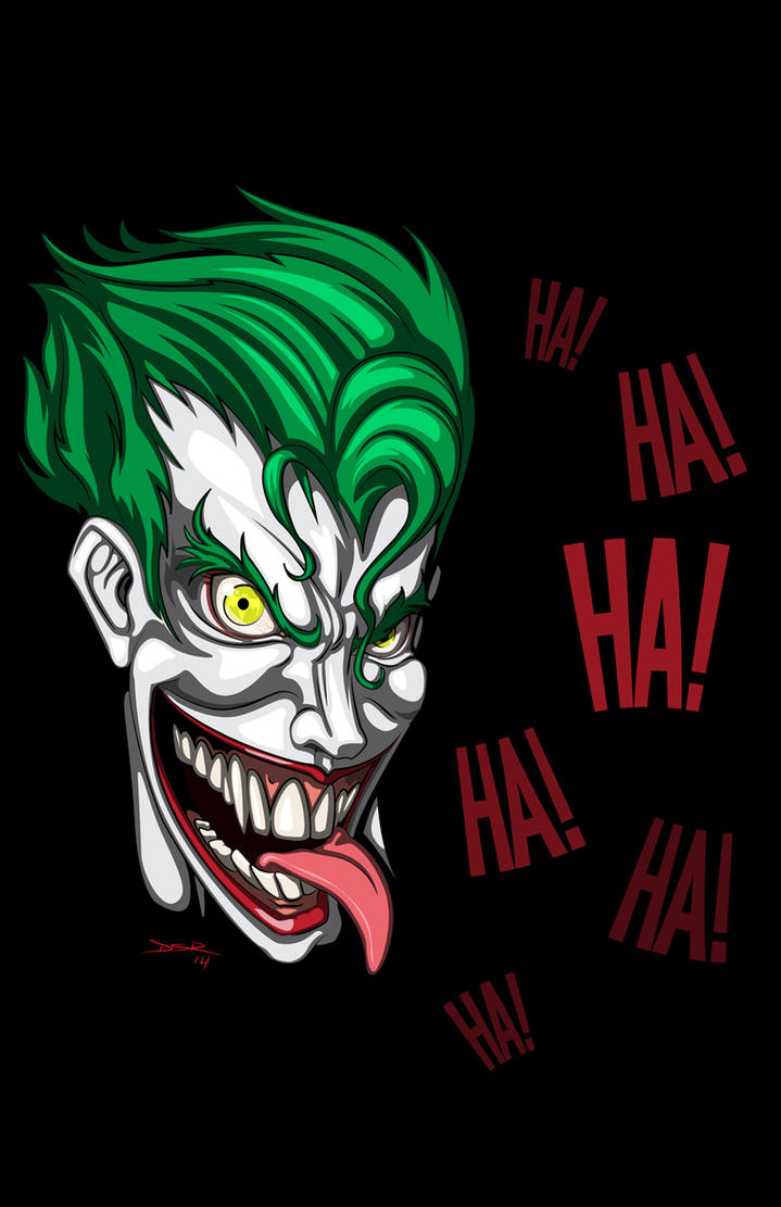 free joker face vector