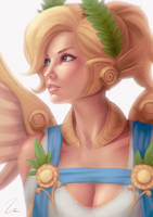 Summer Game Skin Mercy by umigraphics