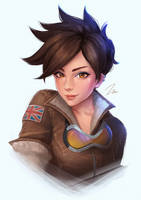 Tracer Portrait by umigraphics