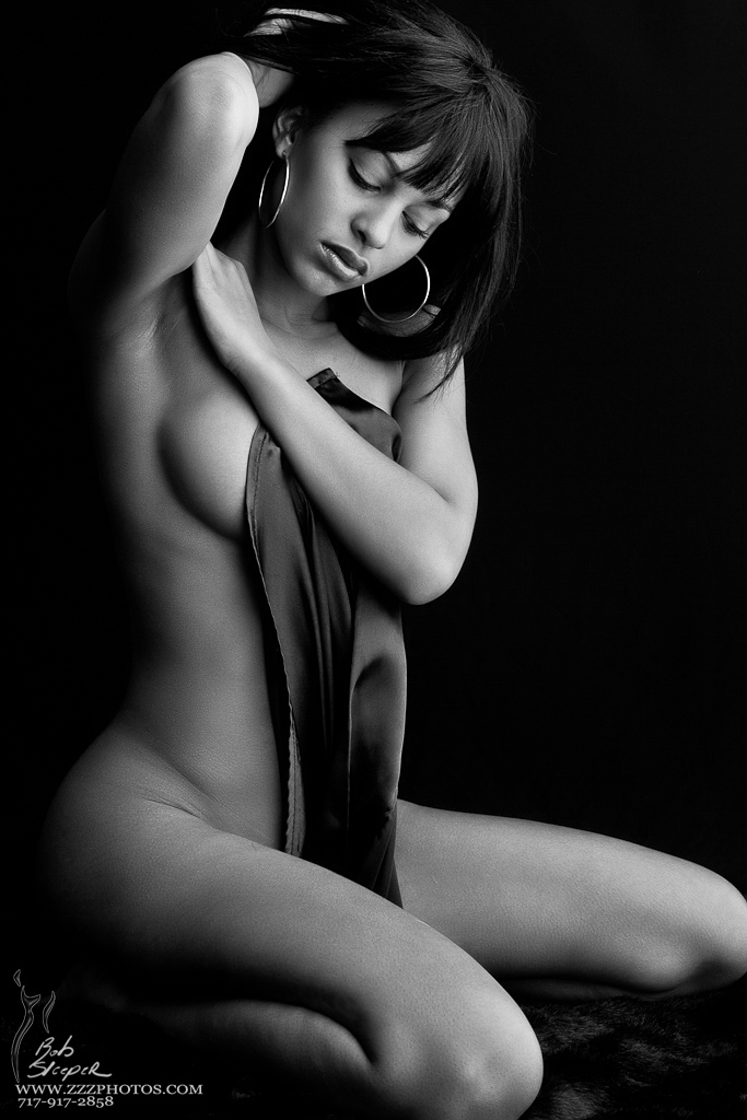 Kaylia in Satin 01 by RobertSleeper
