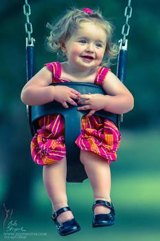 On a swing...