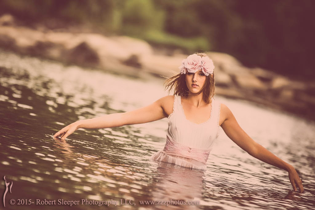 Michelle in the river by RobertSleeper