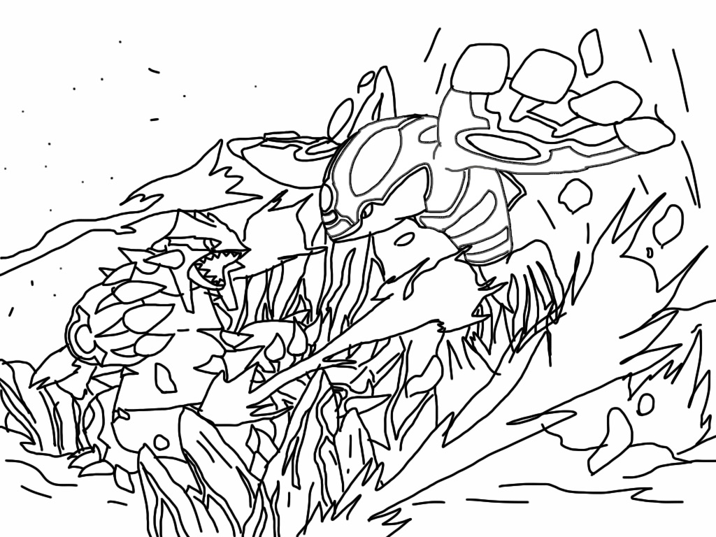 primal groudon coloring page - primal groudon and kyoger by arya5 on deviantart