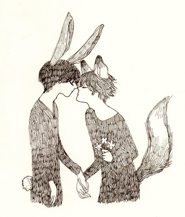 Fox and Rabbit by SoraKokiri