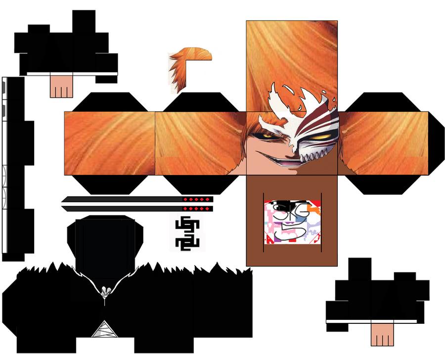Hollow Ichigo stage 1 by superkamiguru5