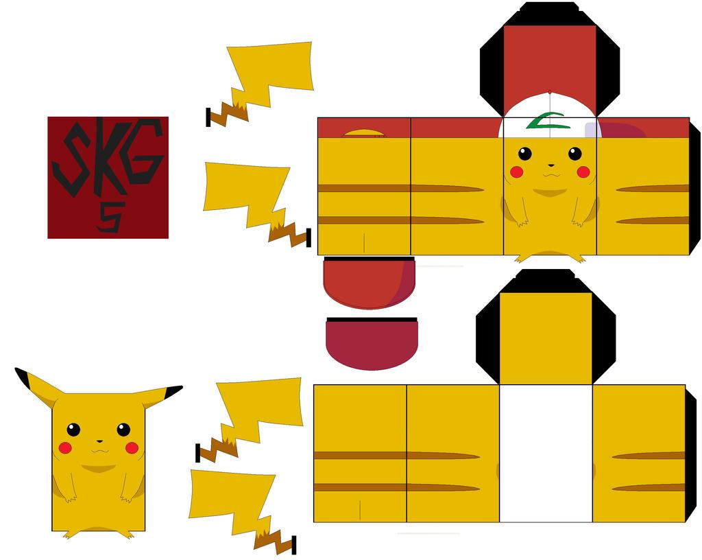 Minecraft Papercraft Pokemon Ash Images