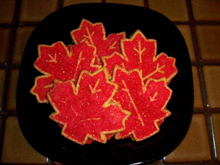 Maple Leaf Cookies by PenguinsFan29 on deviantART