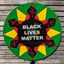 Black Lives Matter Hexsign Handpainted 16inch