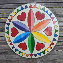 Pride Hexsign Hand-Painted 16inch