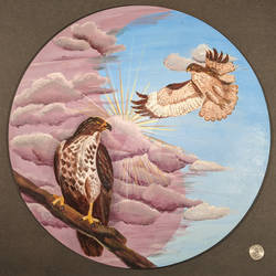 Red Tailed Hawk Animal Guide Hex Sign