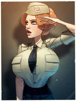 Maggie in uniform