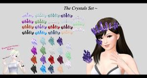 [MMD] The Crystals Set DL ~