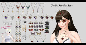 [MMD] Jewelry Set DL ~ by o-DSV-o