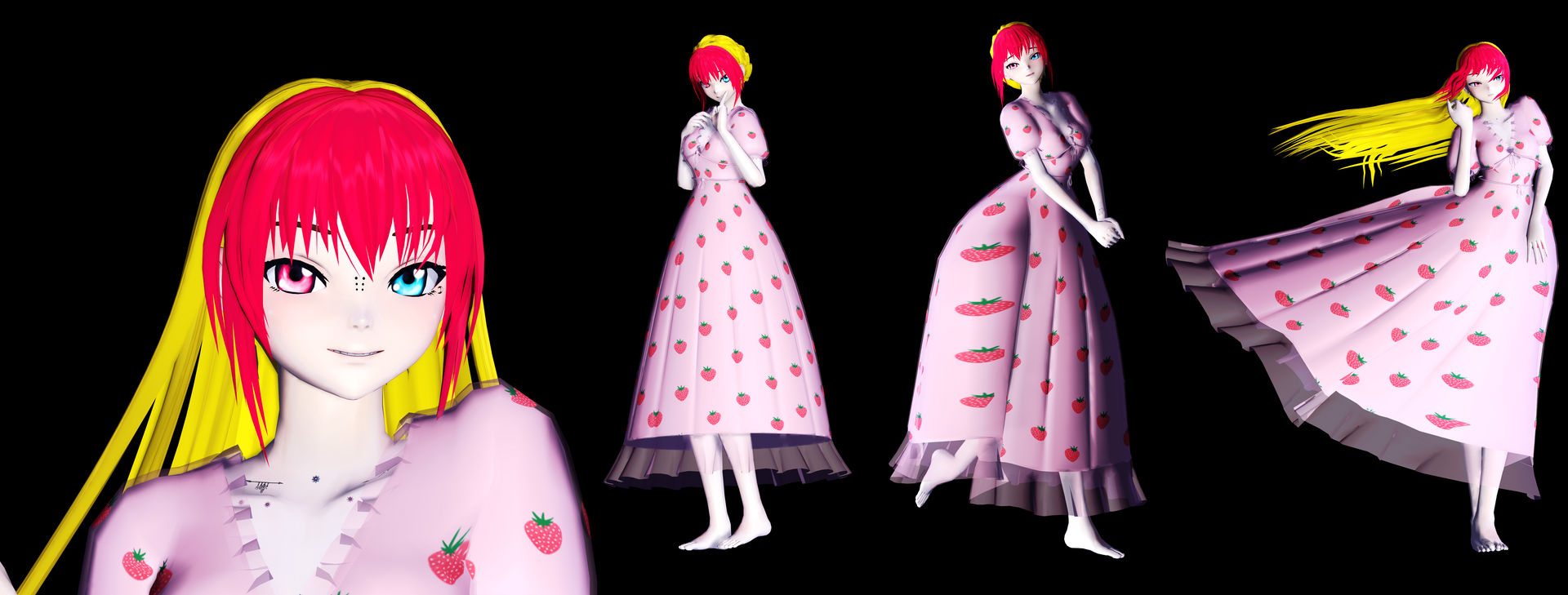 [MMD OC W.I.P.] strawberry Valerie