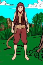 My DnD character: Anzana Lightfoot