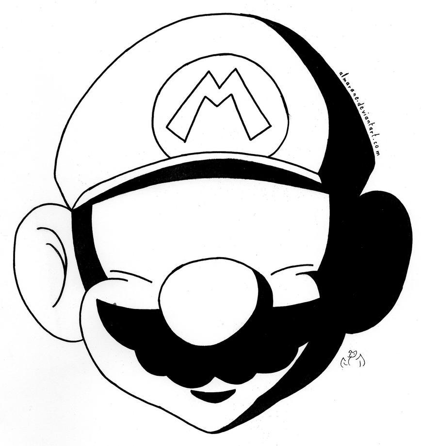 Hard Shadow - Mario by Almarane