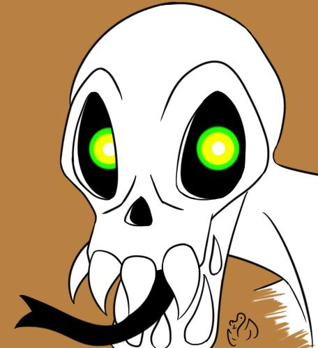 Squeleton head thingie by Almarane