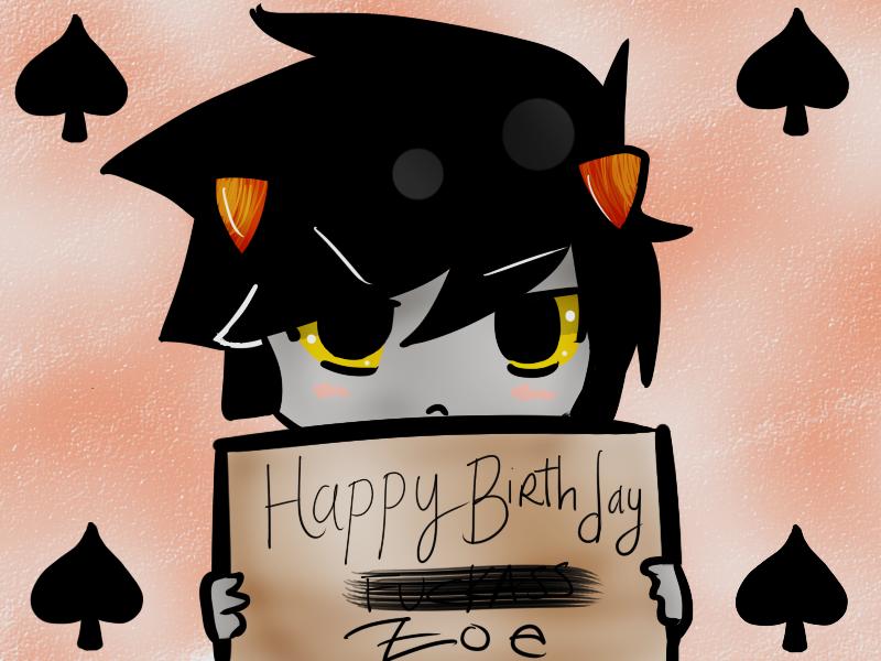 Happy Birthday Zoe 3 By Koolaidislifetome On Deviantart