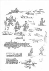 Amalgamation of Practice Sketches by The-Combine-Engineer