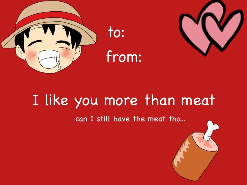Luffy Valentines Day Card by DudeItsNikki on DeviantArt – Digital Valentine Card