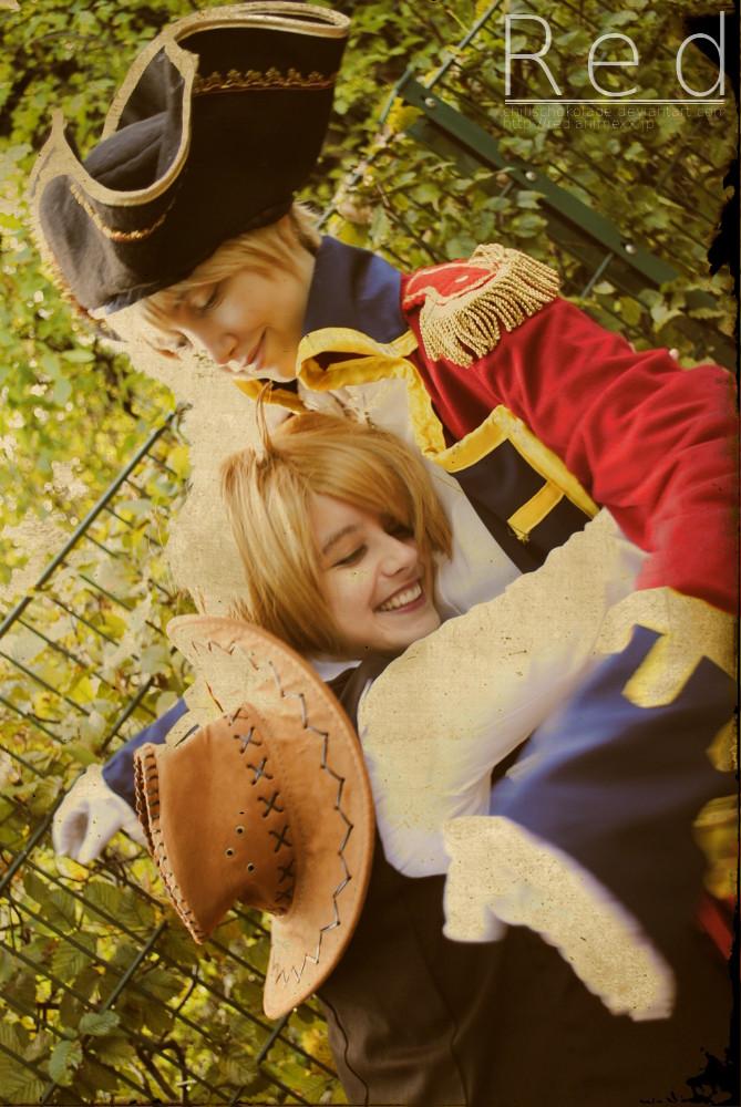 Hetalia - Cowboy America and Pirate England by SharyNyanko
