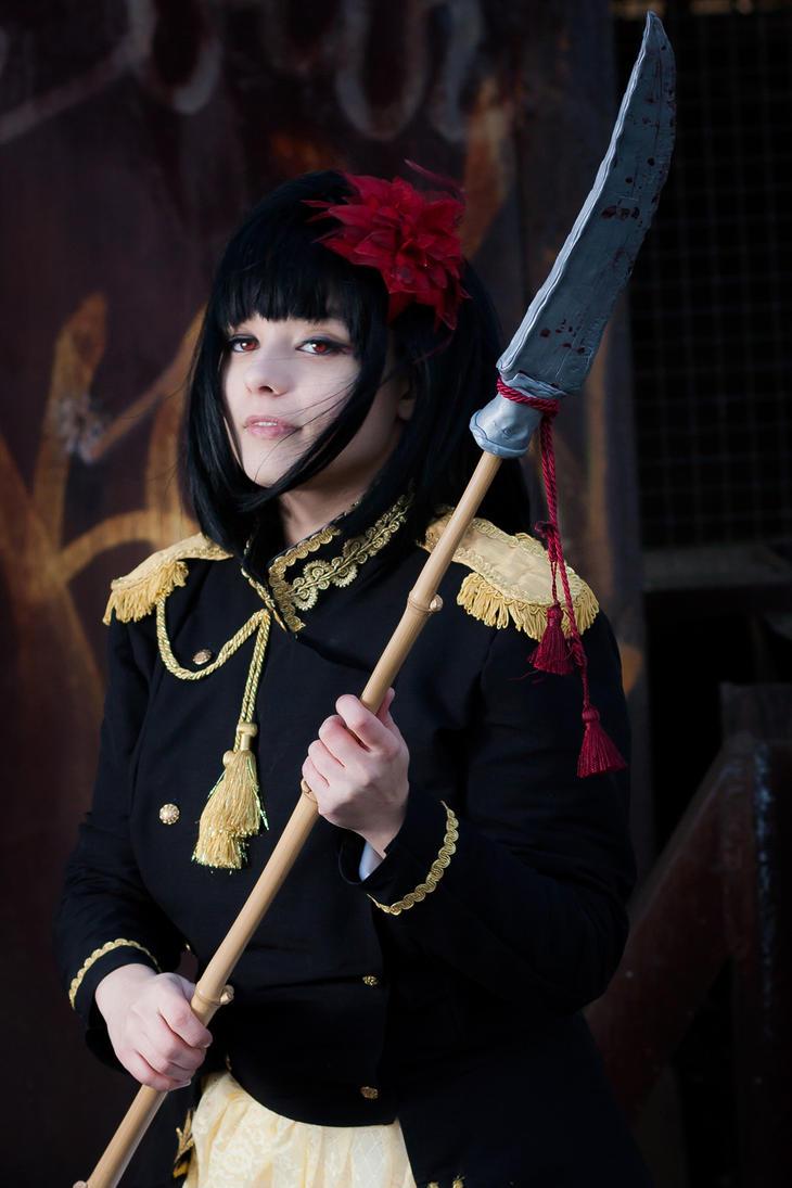 Nyotalia - female Japan 2P by SharyNyanko