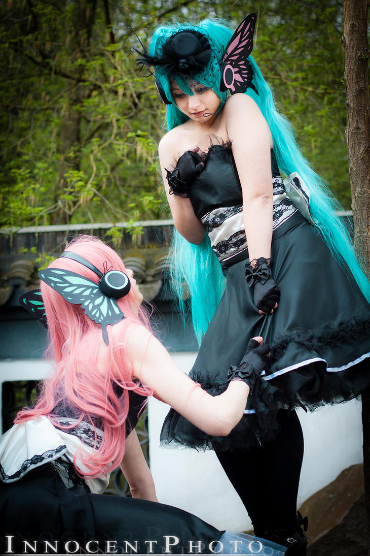 Vocaloid Hatsune Miku and Megurine Luka - Magnet by SharyNyanko
